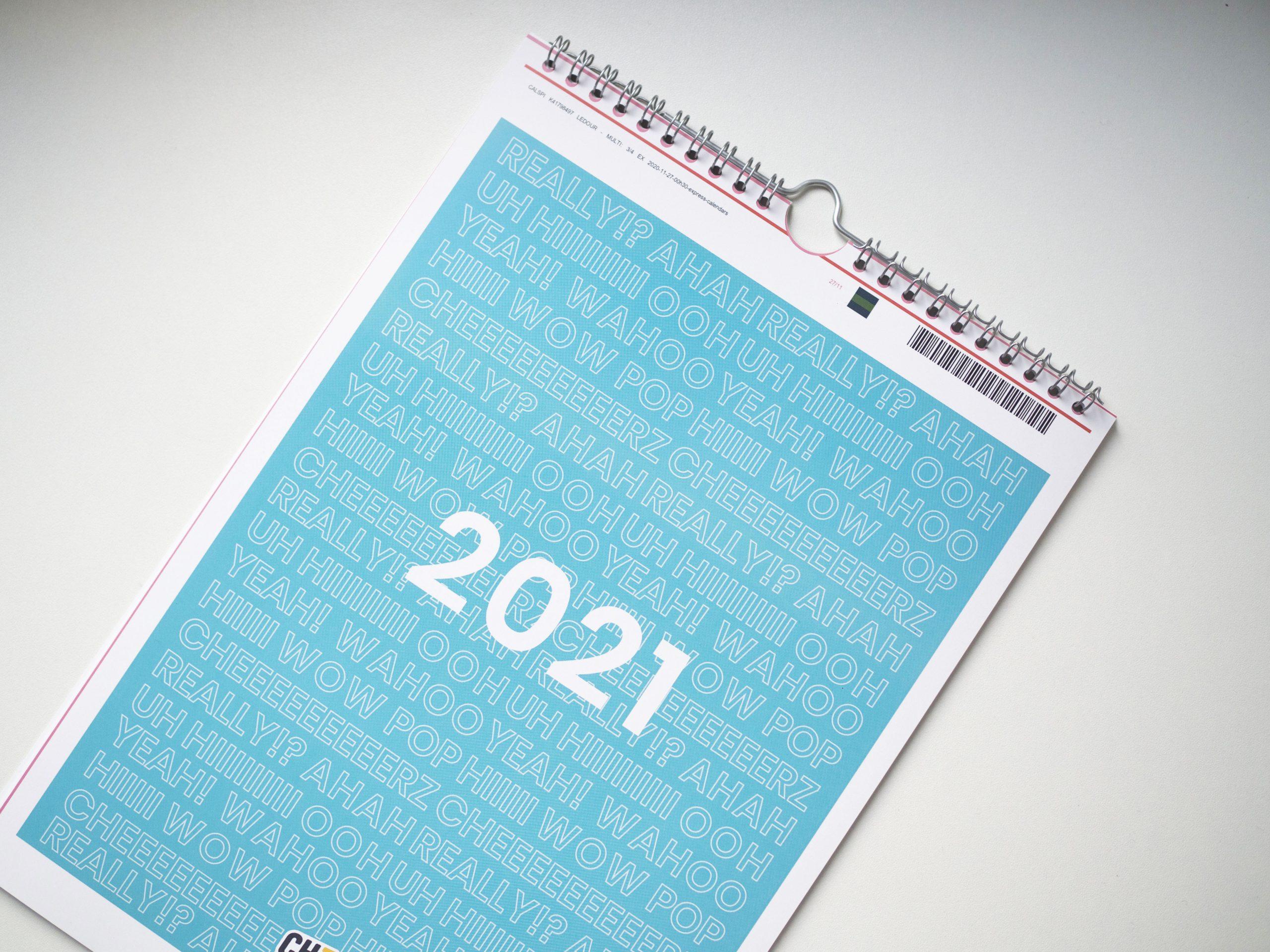 Les calendriers 2021 à personnaliser avec Cheerz