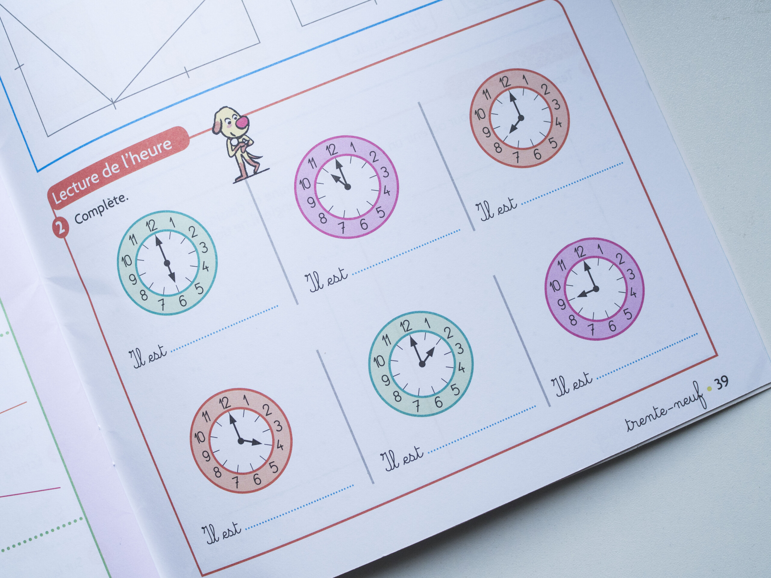 Montre pour apprendre à lire l'heure à son enfant