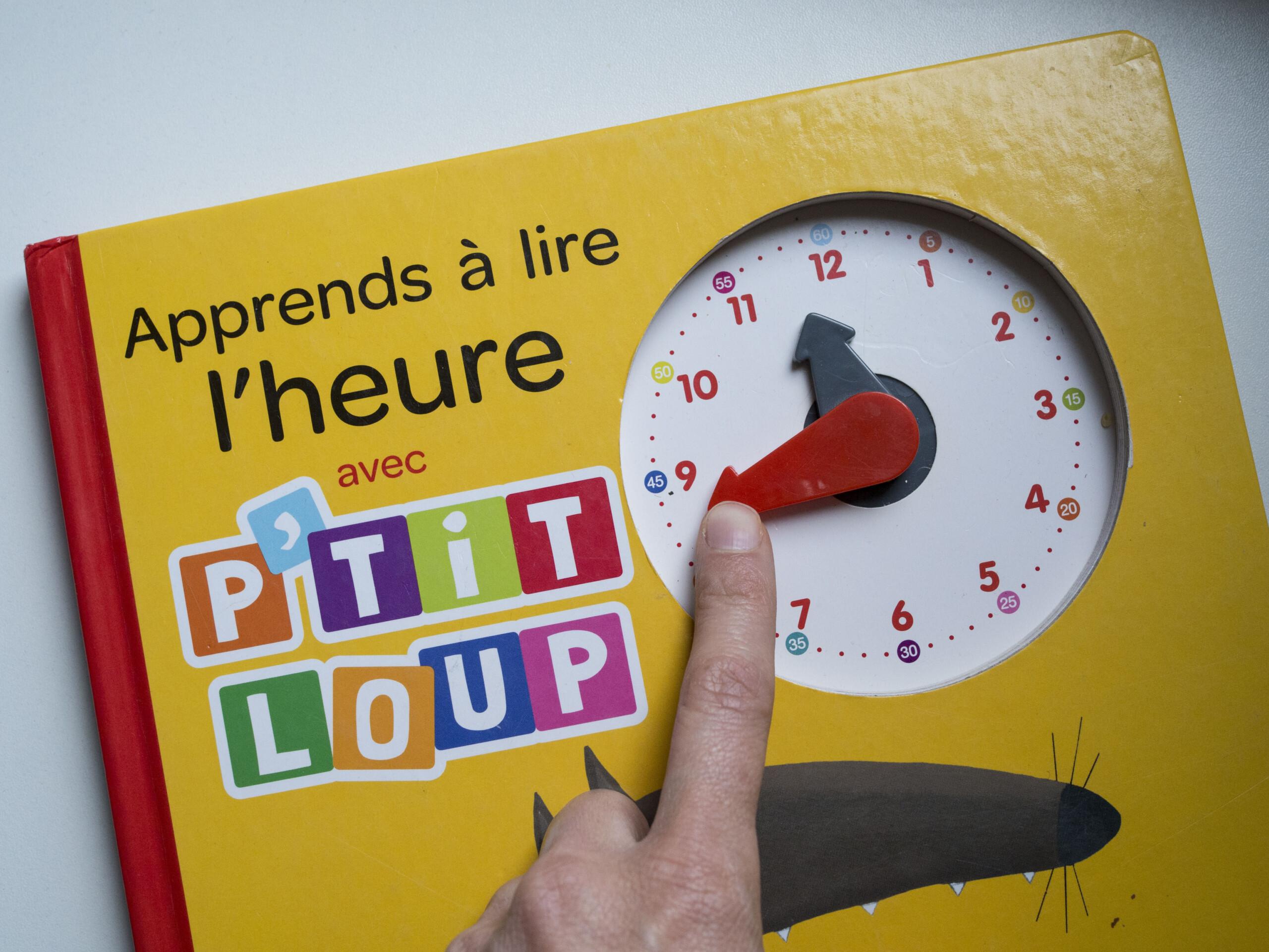 lecture de l'heure enfant