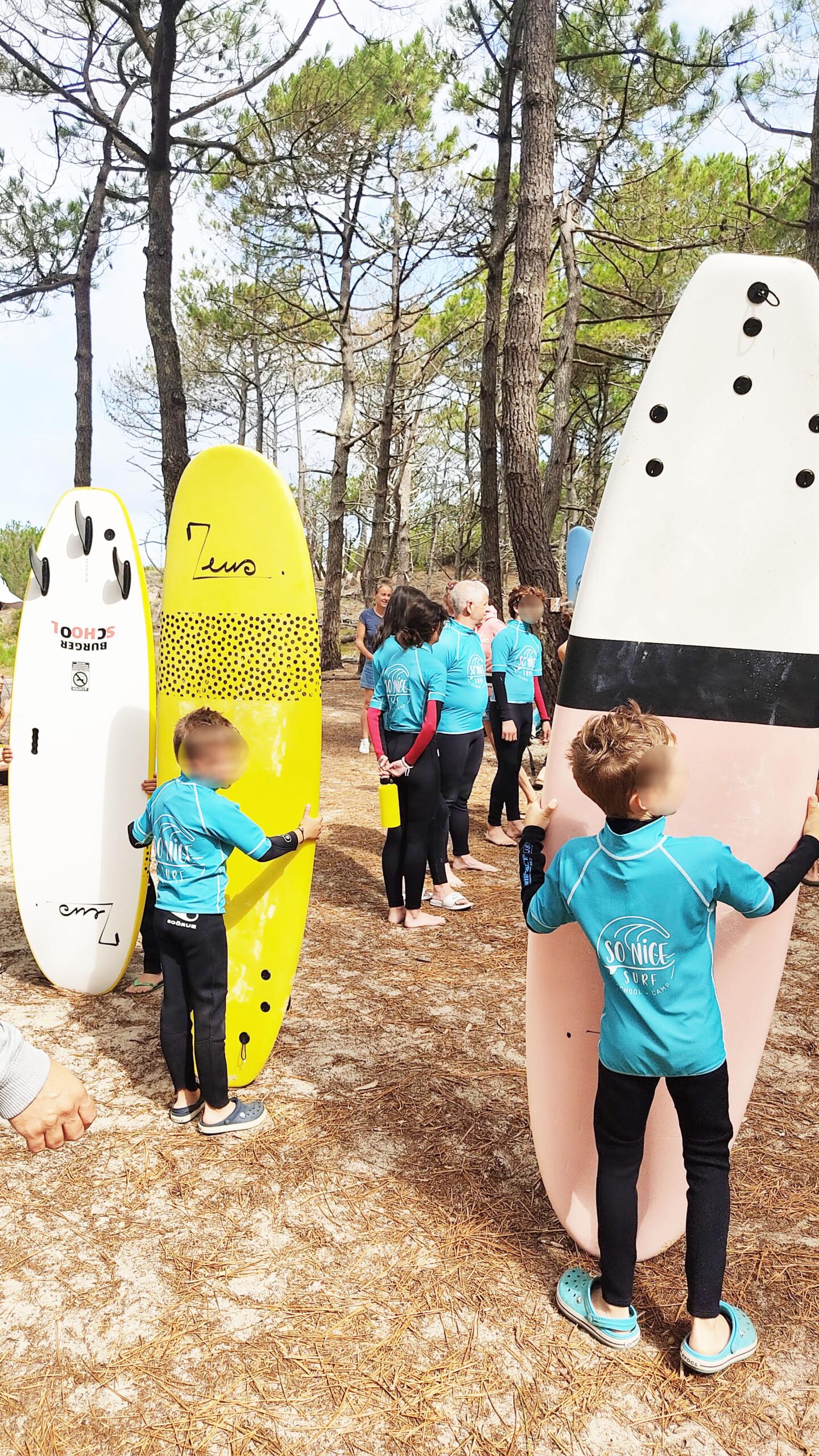 cours de surf enfant école so nice porge