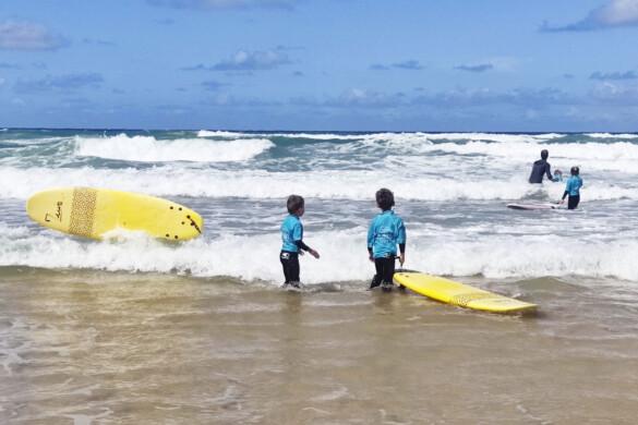 cours de surf enfant porge