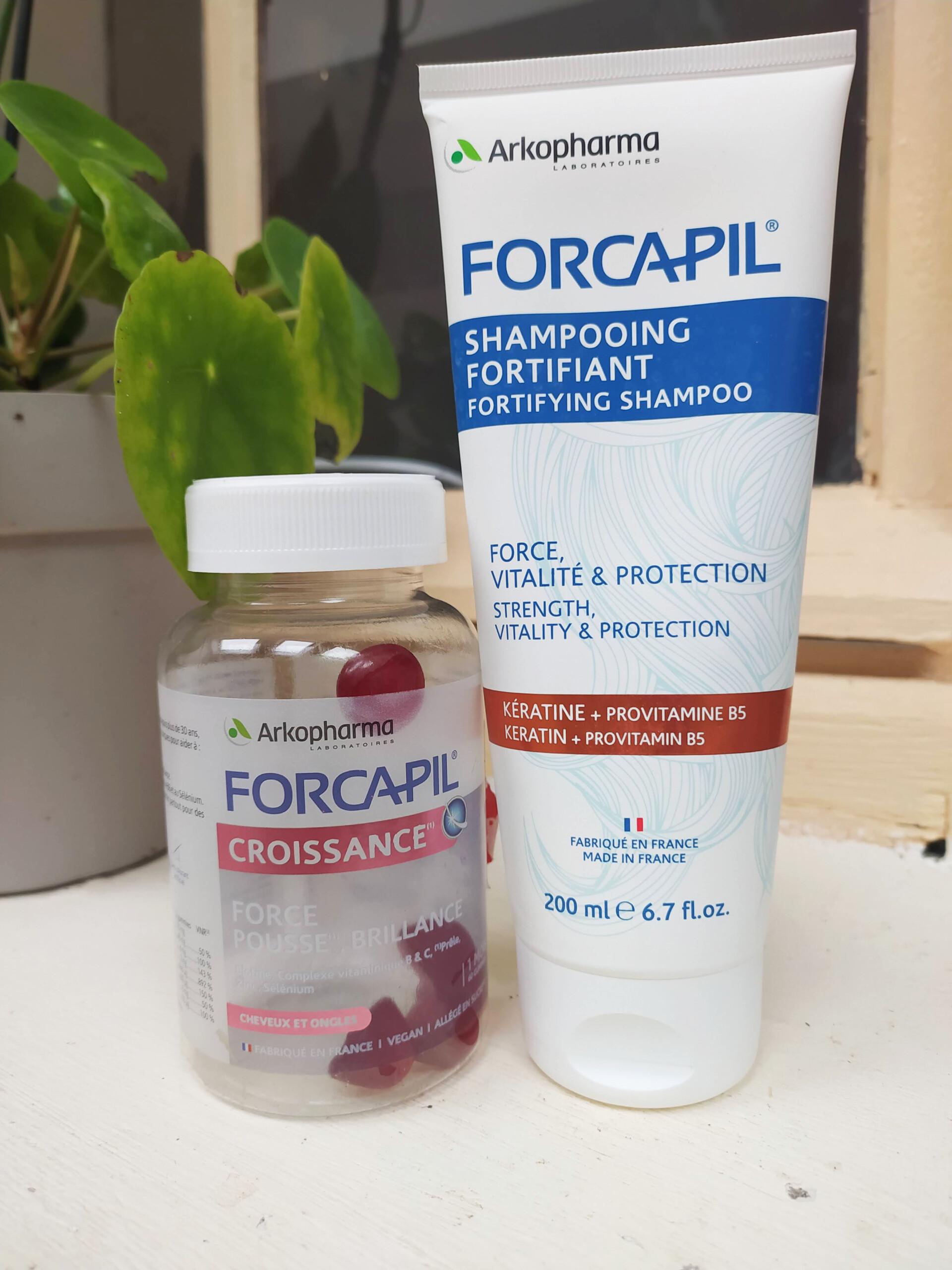 shampoing fortifiant et gummies forcapil